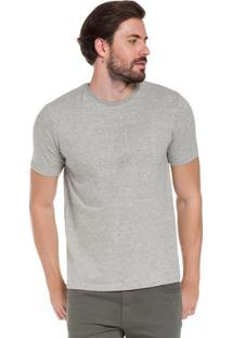 Camiseta Bordado Emboss Em Malha Cinza Hangar 33