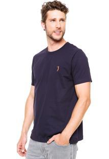 Camiseta Aleatory Bordado Azul-Marinho