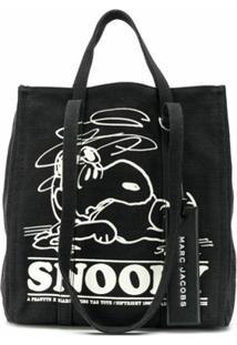 Marc Jacobs Bolsa Tote Snoopy - Preto