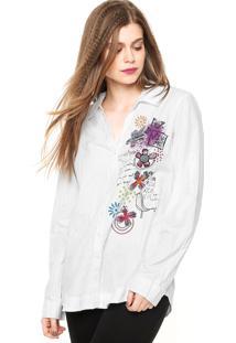 Camisa Manga Longa Desigual Aglaia Branca