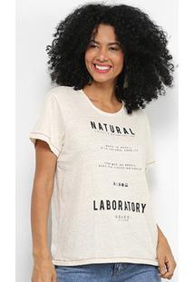 Camiseta Colcci Natural Laboratory Feminina - Feminino-Off White