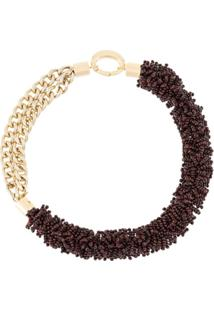 Litkovskaya Zgarda Dual-Textured Necklace - Roxo