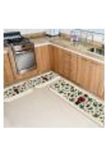 Kit 3 Tapetes Cozinha Quebra Nozes Moderno Único