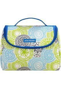 Bolsa Térmica Mandala- Azul & Branca- 16X22X12Cmjacki Design