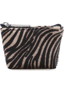 Porta Moeda Corello Couro Pelo Corello Necessaire Zebra