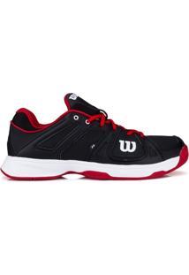 Tênis Wilson Team Preto Vermelho E Branco-44 - Masculino