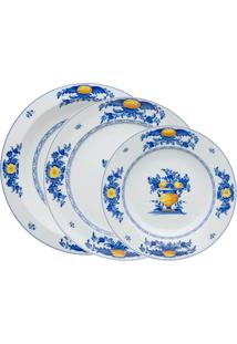 Jogo De Jantar De Porcelana Vista Alegre Viana - 3 Peças