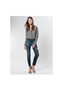 Calça Jeans Deep Blue Fenda