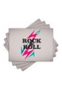 Jogo Americano - Rock Com 4 Peças - 623Jo