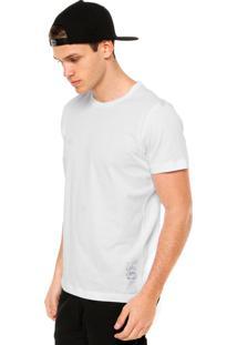 Camiseta Manga Curta Colcci Denim Branca