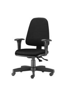 Cadeira Sky Presidente Com Bracos Assento Courino Preto Base Nylon Arcada - 54809 Preto