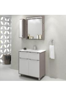 Gabinete Para Banheiro Com Espelheira Ravena 80 Balcony Supremo/Connect