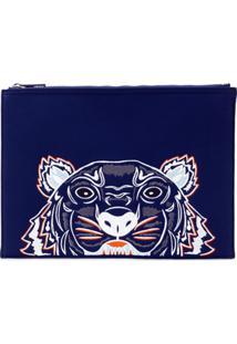 Kenzo Clutch 'Tiger' - Azul