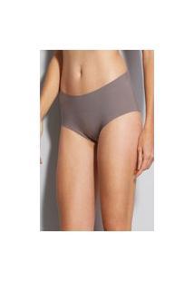 Calcinha Cintura Alta Microfibra Nude Hope Lingerie-Ref.3085