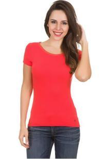 Camiseta Feminina Laranja Lisa