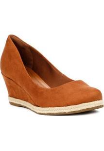 Sapato Anabela Feminino Bebecê Espadrille Marrom