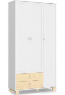 Roupeiro Rope 3 Portas Branco Soft / Natural Matic - Branco - Dafiti