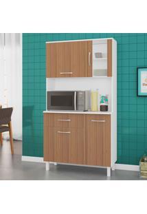 Cozinha Compacta Viena 4 Pt 1 Gv Branco E Montana 91Cm