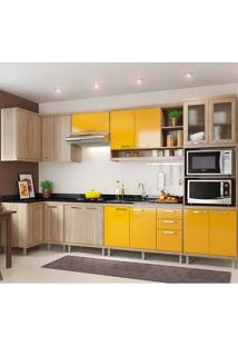 Cozinha Compacta 7 Peças 5830-S15 - Sicília - Multimóveis - Argila / Amarelo