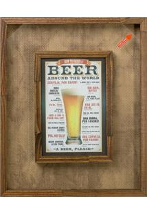 Quadro Porta-Tampas Beer I Madeira