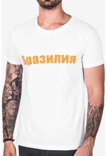 Camiseta Brasil Em Russo 102946