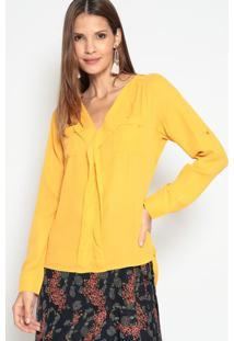Blusa Com Babados- Amarelo Escuro- Le Fixle Fix