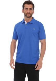 Camisa Polo Clube Náutico Slim Azul Royal