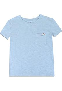 Camiseta Gap Bolso Feminina - Feminino-Azul Escuro