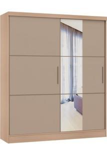 Guarda Roupa Classic Linha Quarto Castro 2 Portas Com Espelho