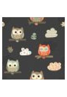 Papel De Parede Adesivo - Owls - 055Ppb