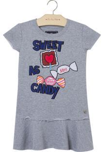 Vestido Sweet As Candy (Cinza Mescla Medio, 1)