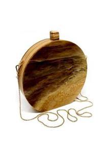 Bolsa Clutch Redonda Wood