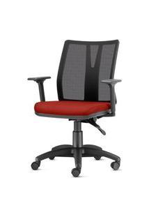 Cadeira Addit Assento Crepe Vermelho Bordo Com Base Arcada Em Nylon (Site) - 54182 Vermelho