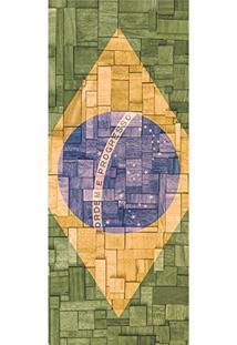 Painel Fotográfico Autocolante Para Porta Com Laminação - Brasil (0,92M(L) X 2,15M(A))