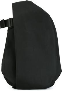 Côte&Ciel Medium Flat Front Backpack - Preto