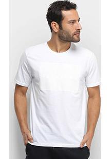 Camiseta Aleatory Relevo Masculina - Masculino-Branco