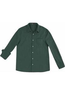 Camisa Masculina Em Tecido Com Fechamento Por Botões