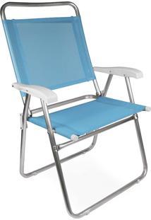 Cadeira Master Plus Fashion Alumínio Azul Mor