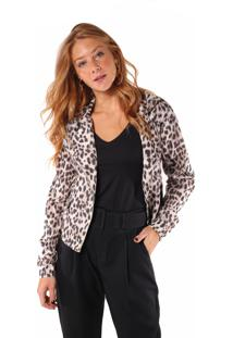 Jaqueta Angel Biker Estampado Leopardo