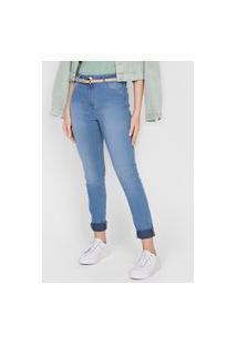 Calça Jeans Dzarm Skinny Estonada Azul