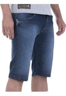 Bermuda Jeans Alado Store Estonada Azul