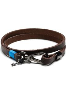 Pulseira Key Design - Johnson Brown - Masculino-Marrom
