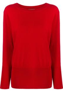 N.Peal Suéter Canelado - Vermelho