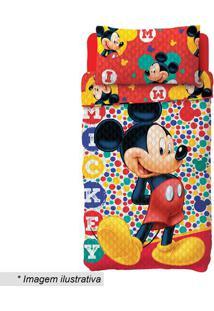 Conjunto De Colcha Dupla Face Mickeyâ® Solteiro- Vermelholepper
