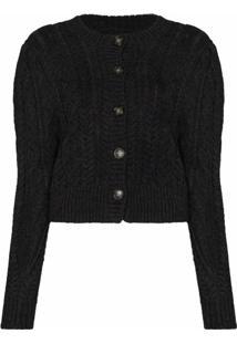 Isabel Marant Étoile Rianne Wool Knit Cardigan - Cinza