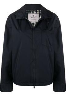 Woolrich Hooded Rain Jacket - Azul
