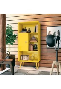 Estante Para Livros Cervantes Edn Móveis Amarelo