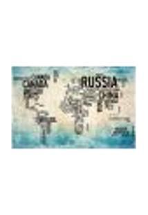 Painel Adesivo De Parede - Mapa Mundi - Mundo - 1416Pnm