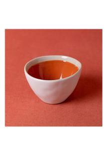 Vaso Feito De Cerâmica Cor: Laranja - Tamanho: Único