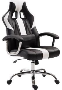 Cadeira Gamer Dinamarca Branco Com Preto